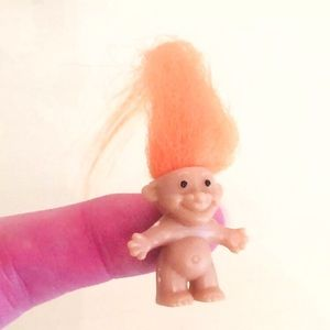 Vintage Miniature Troll Doll 1 Inch Action Figure